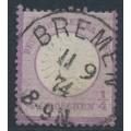 GERMANY - 1872 ¼Gr grey-violet Large Shield (Großer Brustschild), used – Michel # 16