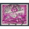 GERMANY - 1933 40+35pf purple Richard Wagner Opera, perf. 14:13, used – Michel # 507A