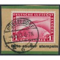 GERMANY - 1933 1M red Graf Zeppelin, Chicagofahrt Weltausstellung 1933, used – Michel # 496