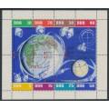 EAST GERMANY / DDR - 1962 Soviet Cosmonauts sheetlet of 8, used – Michel # 926-933Kb