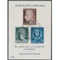 EAST GERMANY / DDR - 1955 Friedrich Schiller M/S, used – Michel # Block 12