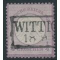 GERMANY - 1872 ¼Gr violet Small Shield (Kleiner Brustschild), used – Michel # 1