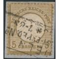 GERMANY - 1872 5Gr ochre-brown Small Shield (Kleiner Brustschild), used – Michel # 6