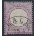 GERMANY - 1872 ¼Gr violet Large Shield (Großer Brustschild), Blindzähne, used – Michel # 16