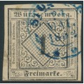 WÜRTTEMBERG - 1851 1Kr black on pale fawn Numeral (type I), imperforate, used – Michel # 1Ia