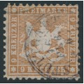 WÜRTTEMBERG - 1863 9Kr yellowish brown Coat of Arms, perf. 10, used – Michel # 28b