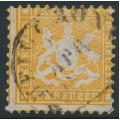 WÜRTTEMBERG - 1864 18Kr yellowish orange Coat of Arms, perf. 10, used – Michel # 29