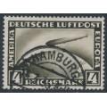 GERMANY - 1928 4RM black-brown Graf Zeppelin, used – Michel # 424