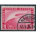 GERMANY - 1931 1RM red Graf Zeppelin, used – Michel # 455