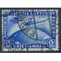 GERMANY - 1930 2RM blue Zeppelin, 1. Südamerika Fahrt, used – Michel # 438Y