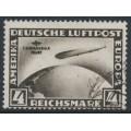 GERMANY - 1930 4RM black-brown Zeppelin, 1. Südamerika Fahrt, used – Michel # 439X