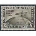 GERMANY - 1931 4RM black-brown Graf Zeppelin, o/p POLAR-FAHRT 1931, used – Michel # 458