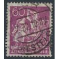 GERMANY - 1922 60pfg purple Blacksmith, network watermark, geprüft, used – Michel # 184