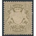 BAVARIA / BAYERN - 1900 3Mk grey-brown Coat of Arms on dull orange-white paper, MNH – Michel # 69x