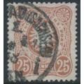 GERMANY - 1887 25pf orange-brown Imperial Eagle, used – Michel # 43IIc