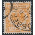 GERMANY - 1898 25pf deep orange Imperial Eagle, used – Michel # 49ba