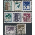 HUNGARY - 1925 Sports and Scouting set of 8, used – Michel # 403-410