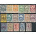 HUNGARY - 1913 1f to 5Kr Flood Relief set of 17, MH – Michel # 128-144