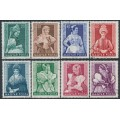 HUNGARY - 1953 Regional Costumes set of 8, used – Michel # 1300-1337