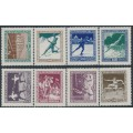 HUNGARY - 1925 Sports and Scouting set of 8, mint hinged – Michel # 403-410