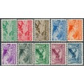 HUNGARY - 1936 10f to 5P Airmail set of 10, mint hinged – Michel # 528-537