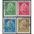 HUNGARY - 1932 1P to 10P Patrona Hungariae (Madonna & Child) set of 4, used – Michel # 484-487