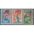 HUNGARY - 1950 40f to 1Ft Peace set of 3, used – Michel # 1139-1141