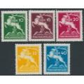 HUNGARY - 1933 10f to 40f Scout Jamboree set of 5, MNH – Michel # 511-515