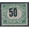 HUNGARY - 1914 50f green/black Postage Due, crosses watermark, misplaced '50', MH – Michel # P33Y