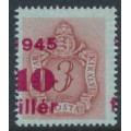 HUNGARY - 1945 10f on 3f brown-carmine Postage Due with misplaced overprint, MNH – Michel # P164