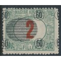 HUNGARY - 1919 60f on 2f green/red Temesvár Postage Due with misplaced overprint, MH – Michel # P5a
