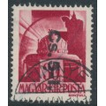 HUNGARY - 1946 30f carmine-red Crown overprinted Cs.5-1., used – Michel # 860