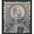 HUNGARY - 1871 25Kr blue-violet Emperor Franz Josef (engraved), used – Michel # 13a