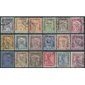 HUNGARY - 1915 1f+2f to 5K+2f War Relief overprints set of 18, used – Michel # 162-178 + A175