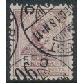 HUNGARY - 1901 5Kr brown-purple/black Emperor, perf. 12:11½, crown in circle watermark, used – Michel # 70A