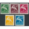 HUNGARY - 1933 10f to 40f Scout Jamboree set of 5, MNH – Michel # 511-515