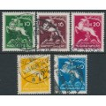 HUNGARY - 1933 10f to 40f Scout Jamboree set of 5, used – Michel # 511-515