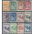 HUNGARY - 1927-1929 4f to 5P Turul Airmail set of 12, used – Michel # 430-437 + 467-470
