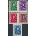 HUNGARY - 1935 10f to 40f Prince Rákóczi II set of 5, MNH – Michel # 517-521