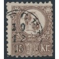 HUNGARY - 1871 15Kr grey-brown Emperor Franz Josef (engraved printing), used – Michel # 12a