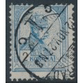 HUNGARY - 1901 2Kr grey-blue/black Emperor, perf. 12:11½, crown in circle watermark, used – Michel # 68A