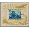 HUNGARY - 1948 3Ft+18Ft blue-green Chain Bridge Reconstruction M/S, used – Michel # Block 13