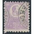 HUNGARY - 1871 25Kr violet Emperor Franz Josef (lithographed), used – Michel # 6a