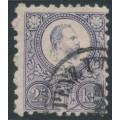 HUNGARY - 1871 25Kr red-violet Emperor Franz Josef (engraved), used – Michel # 13b