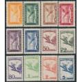 HUNGARY - 1927-1929 Turul Airmail set of 12, MH – Michel # 430-437 + 467-470