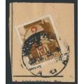 HUNGARY - 1946 80f olive-brown Crown overprinted Cs.10-1., MNH – Michel # 861