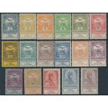 HUNGARY - 1913 Flood Relief set of 17, MH – Michel # 128-144