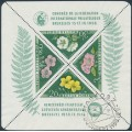 HUNGARY - 1958 FIP Congress in Brussels M/S, perf. 12, used – Michel # Block 28A
