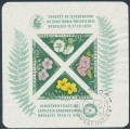 HUNGARY - 1958 FIP Congress in Brussels M/S, imperf., used – Michel # Block 28C