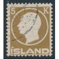 ICELAND - 1912 5Kr brown King Frederik VIII, used – Facit # 120